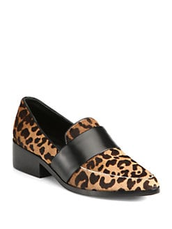 3.1 Phillip Lim - Quinn Leopard-Print Calf Hair & Leather Loafers