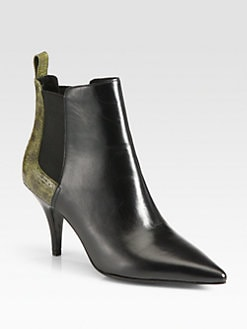 3.1 Phillip Lim - Bunty Leather & Fish Skin Ankle Boots