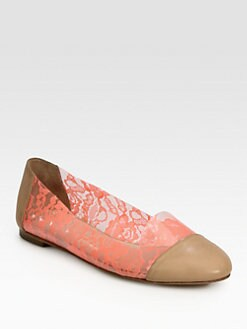 Loeffler Randall - Beckett Jelly Leather-Trimmed Smoking Slippers