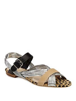 Loeffler Randall - Lolly Mignon Mixed Media Sandals