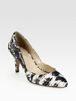Loeffler Randall - Tasmin Lizard-Print Leather Pumps