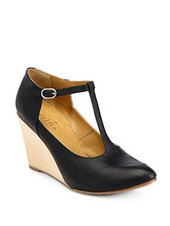 Coclico - Jorah Leather Wedge Pumps
