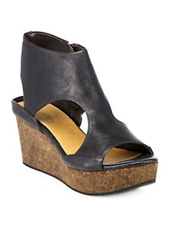 Coclico - Mosaic Leather Wedge Sandals