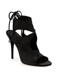 Aquazzura - Suede Cutout Sandals