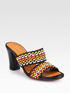 Chie Mihara - Viky Woven Leather Sandals