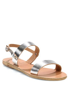 Ancient Greek Sandals - Clio Metallic Leather Sandals