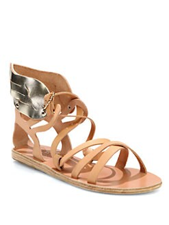 Ancient Greek Sandals - Nephele Wings Leather Sandals