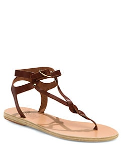 Ancient Greek Sandals - Ismene Leather T-Strap Sandals