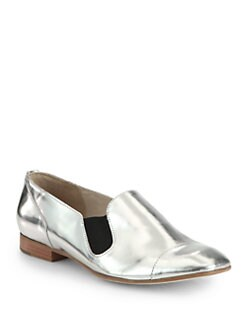 Elizabeth and James - Cort Metallic Leather Loafers