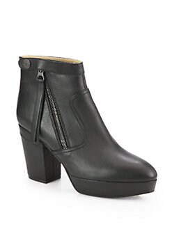 Acne Studios - Track Leather Platform Ankle Boots