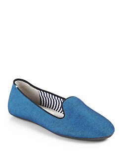 Charles Philip Shanghai - Cotton & Satin Smoking Slippers