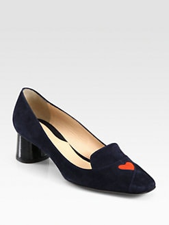 Carven - Suede Heart Pumps
