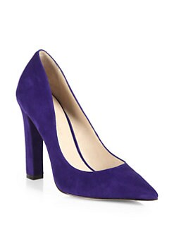 Elizabeth and James - E-Vino Suede Point-Toe Pumps