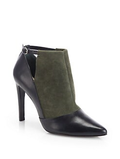 10 Crosby Derek Lam - Casia Suede & Leather Ankle Boots