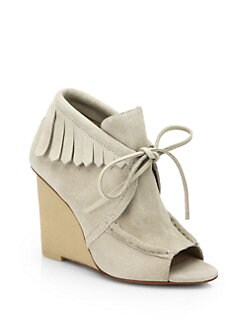 10 Crosby Derek Lam - Zared Suede Wedge Ankle Boots