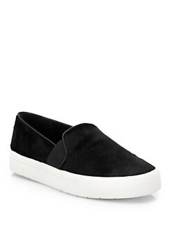 Vince - Berlin Calf Hair Slip-On Sneakers