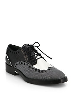Alexander Wang - Nathan Perforated Leather Oxfords