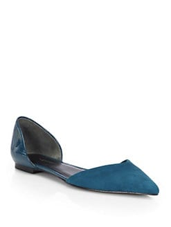 3.1 Phillip Lim - Suede & Patent Leather D'Orsay Flats