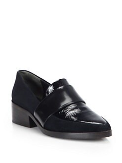 3.1 Phillip Lim - Suede, Patent Leather & Smooth Leather Loafers
