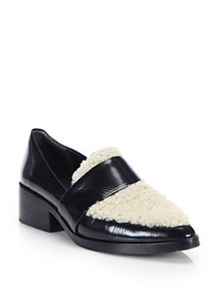 3.1 Phillip Lim - Shearling & Leather Loafers