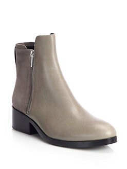 3.1 Phillip Lim - Suede & Leather Double-Zip Ankle Boots