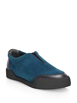 3.1 Phillip Lim - Suede and Leather Slip-Ons