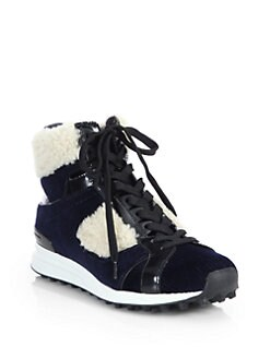 3.1 Phillip Lim - Shearling-Trimmed High-Top Sneakers