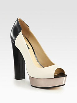 Rachel Zoe - Lauren Leather Platform Pumps