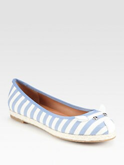 Marc by Marc Jacobs - Striped Canvas Mouse Espadrilles