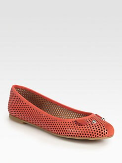 Marc by Marc Jacobs - Perforated Leather Mouse Ballet Flats