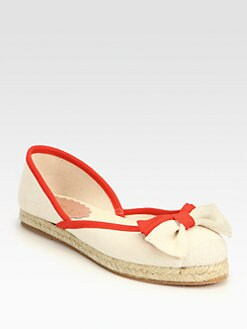 RED Valentino - Canvas Bow Espadrilles
