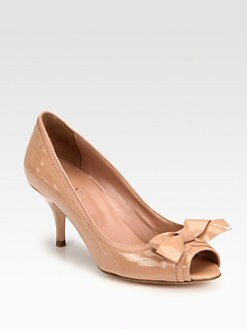 RED Valentino - Patent Leather Bow Pumps