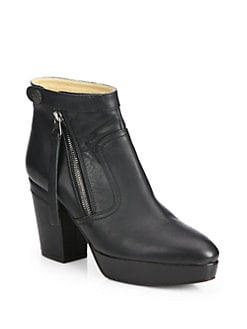 Acne Studios - Leather Platform Ankle Boots