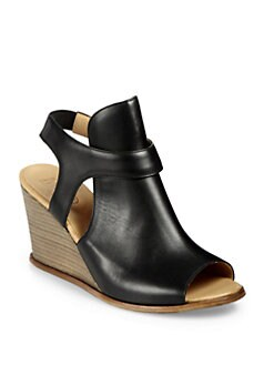 Maison Martin Margiela MM6 - Leather Wedge Sandals