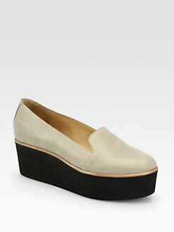 Maison Martin Margiela MM6 - Leather Platform Wedge Loafers