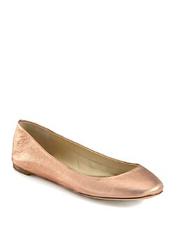 Vera Wang Lavender Label - Lara Metallic Leather Ballet Flats