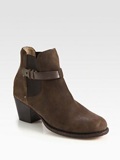Rag & Bone - Durham Suede & Leather Ankle Boots