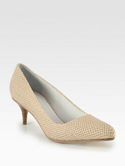 Acne - Poe Snake-Print Leather Pumps