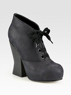 Acne - Selena Leather Lace-Up Ankle Boots