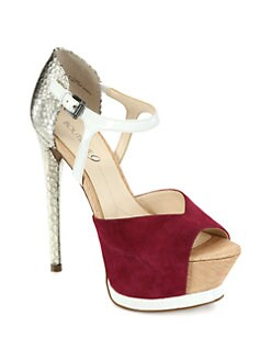 Boutique 9 - Nerissa Mixed Media Platform Pumps