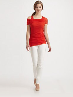 Fuzzi - Asymmetrical Ruched Top
