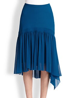 Fuzzi - Tiered-Hem Skirt