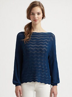 Fuzzi - Zigzag Open-Crocheted Sweater