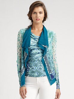 Fuzzi - Draped/Printed Cardigan