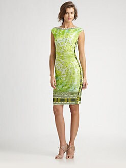 Fuzzi - Printed Mesh Dress