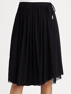 Fuzzi - Pleated Drawstring Skirt