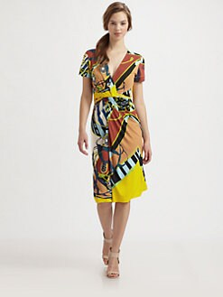 Fuzzi - Printed Stretch Jersey Dress