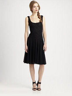 Fuzzi - Lace-Bodice Tank Dress