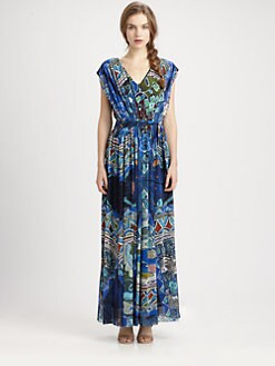 Fuzzi - Abstract-Print Maxi Dress