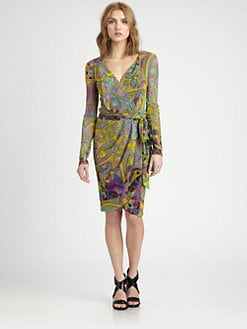 Fuzzi - Print Wrap Dress